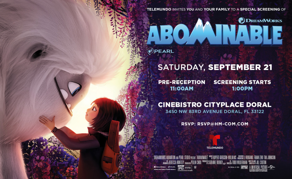 Abominable screening email invitation