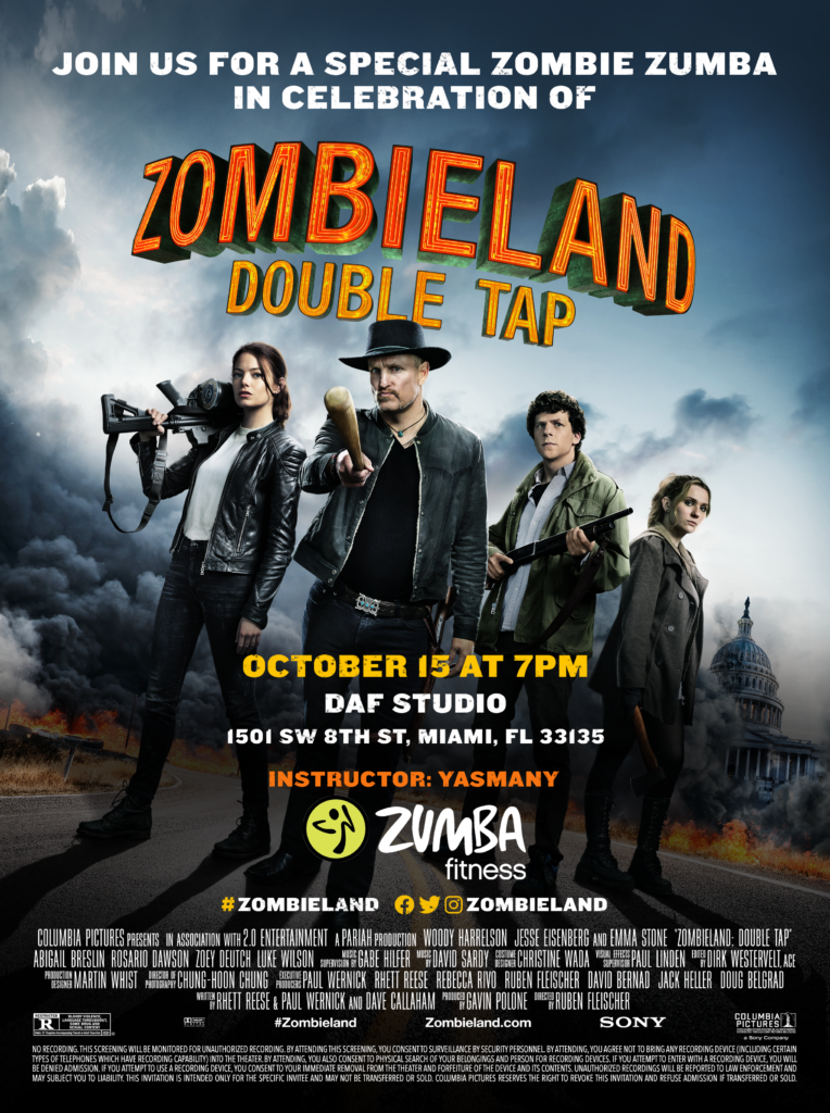 Zombieland Double Tap Email Invitation